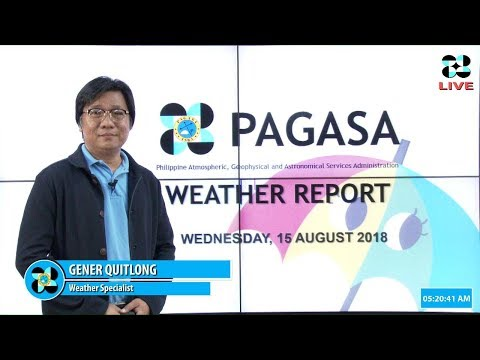 Public Weather Forecast Issued at 4:00 AM August 15, 2018