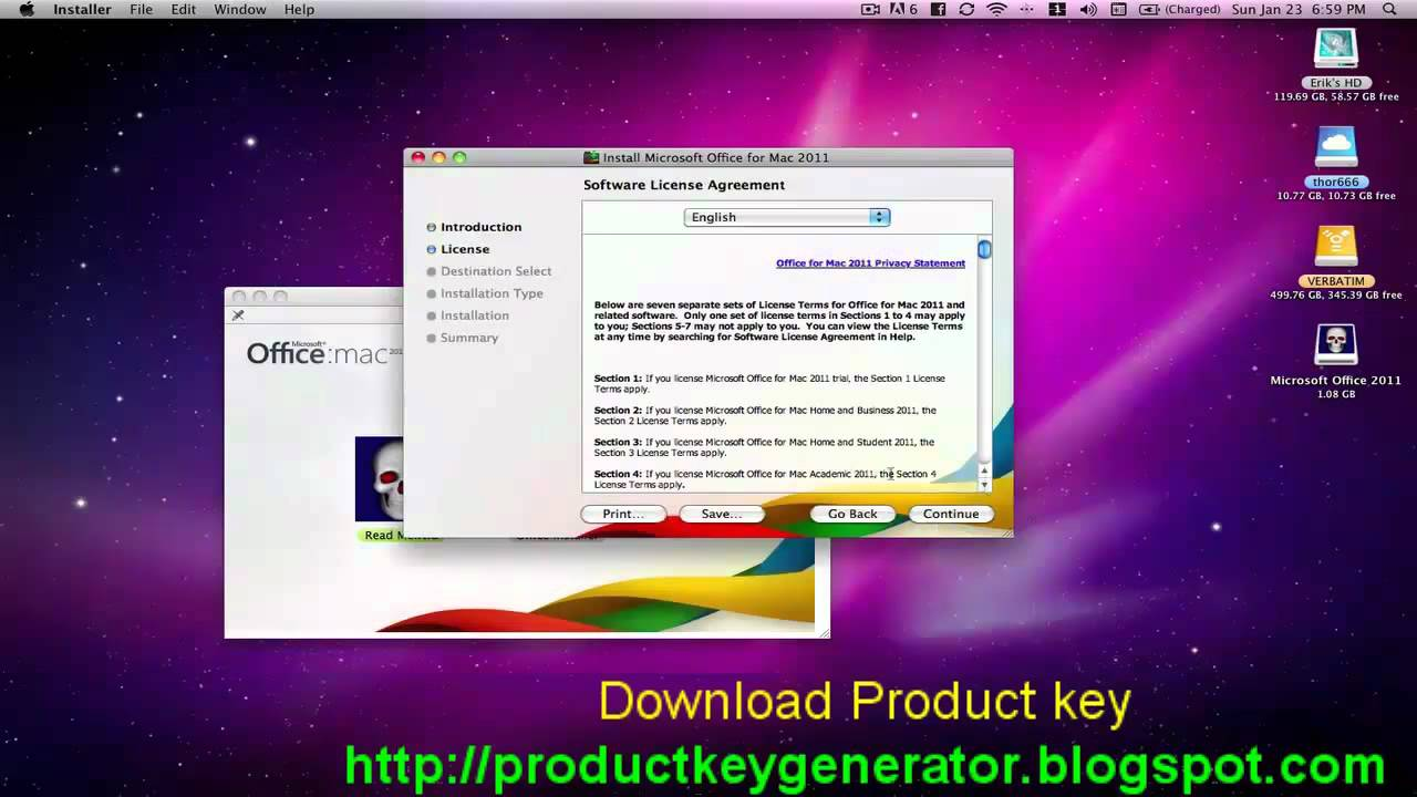microsoft office 2011 for mac free product key generator