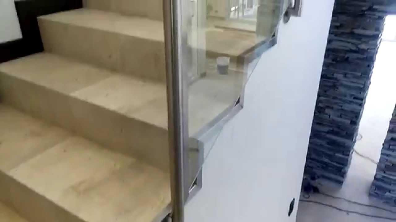 Sistema de pasamanos de acero inoxidable y vidrio youtube - Pasamanos de acero ...