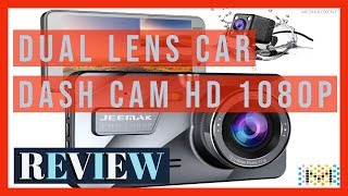 Review Jeemak 4 IPS Dual Lens Car Dash Cam FHD 1080P Dashboard Camera
