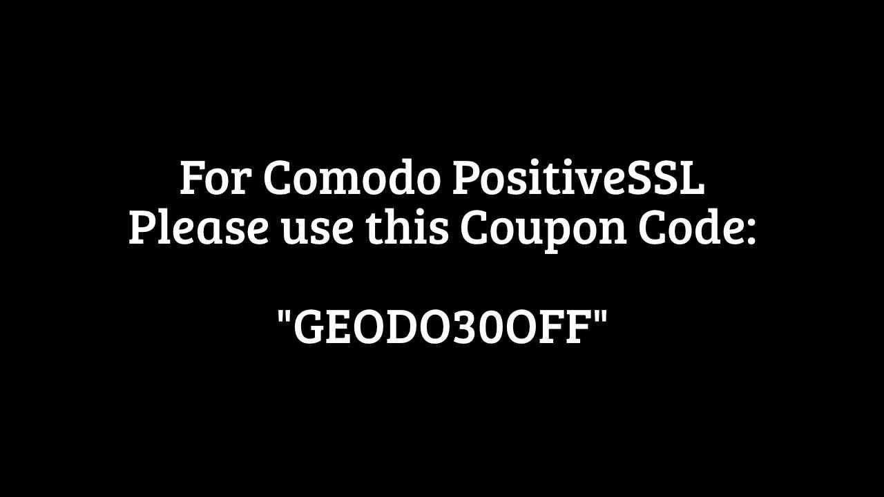 Cheap Comodo Positive Ssl Certificate Coupon February 2014 Youtube