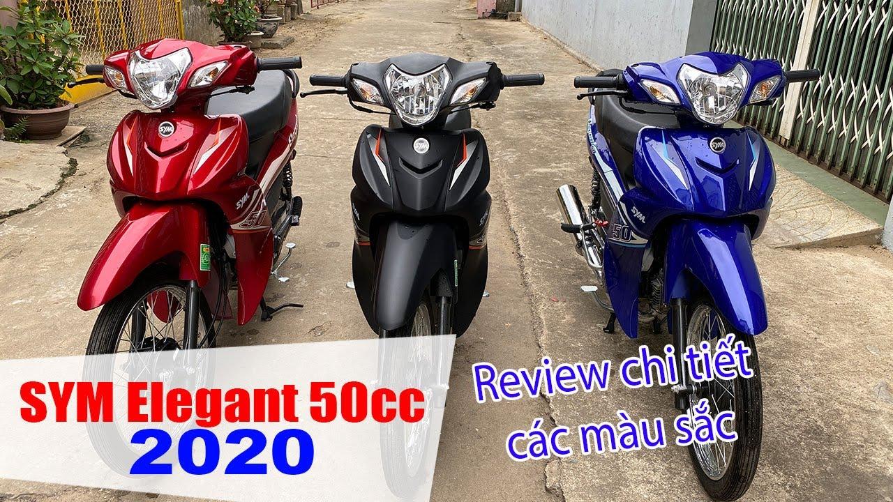 SYM ELEGANT 50CC 2020 | Đánh giá cận cảnh 3 màu sắc mới ra mắt