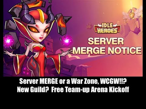 Idle Heroes - Server Merge IOS S16 WCGW?!? Civil War? Drama?! Free Team-up Arena Rivalry!