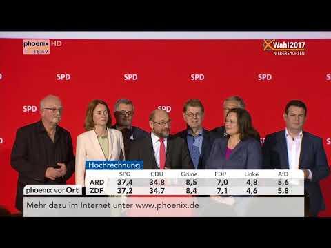Martin Schulz zum Wahlerfolg der SPD bei der Landtagswahl in Niedersachsen am 15.10.17