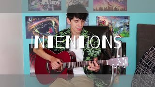 Intentions - Justin Bieber ft Quavo Fingerstyle Guitar Cover FREE TABS
