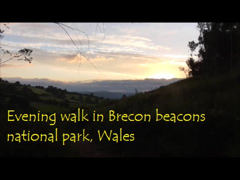 Evening walk in the Brecon beacons national park, Wales