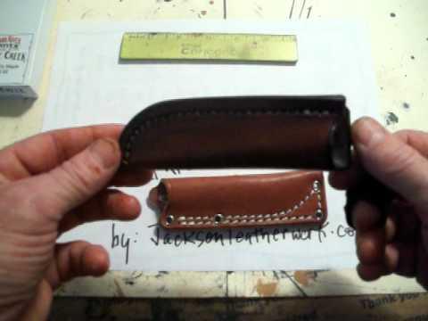 Jacksonleatherwork, Custom Bark River Little Creek Knife Sheath