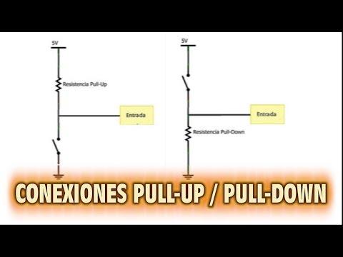 Conexiones Pull-Up -  Pull-Down sobre Microcontroladores