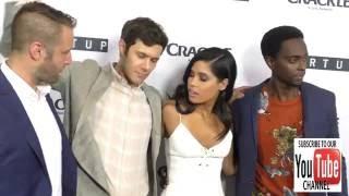 Adam Brody, Otmara Marrero and Edi Gathegi at the Premiere Of Crackle's Startup at London Hotel in W