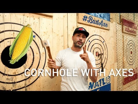 How To Play Cornhole (With Axes)