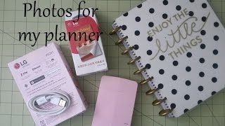lG Pocket Photo Printer PD251- Photos for my Planner
