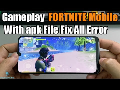 Gameplay FORTNITE Mobile  With Apk File Fix All Error