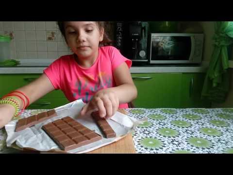 Пробую фокус с шоколадкой