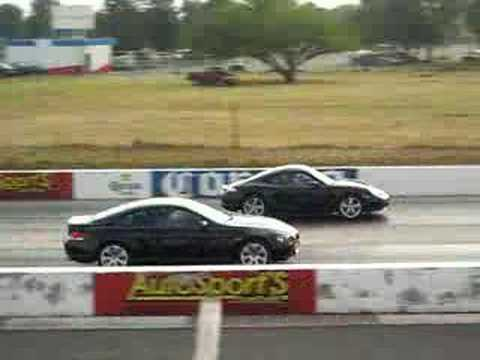 Arrancones BMW 650Ci vs Porsche Cayman S!!
