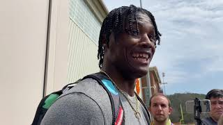 Tee Higgins after Pro Day