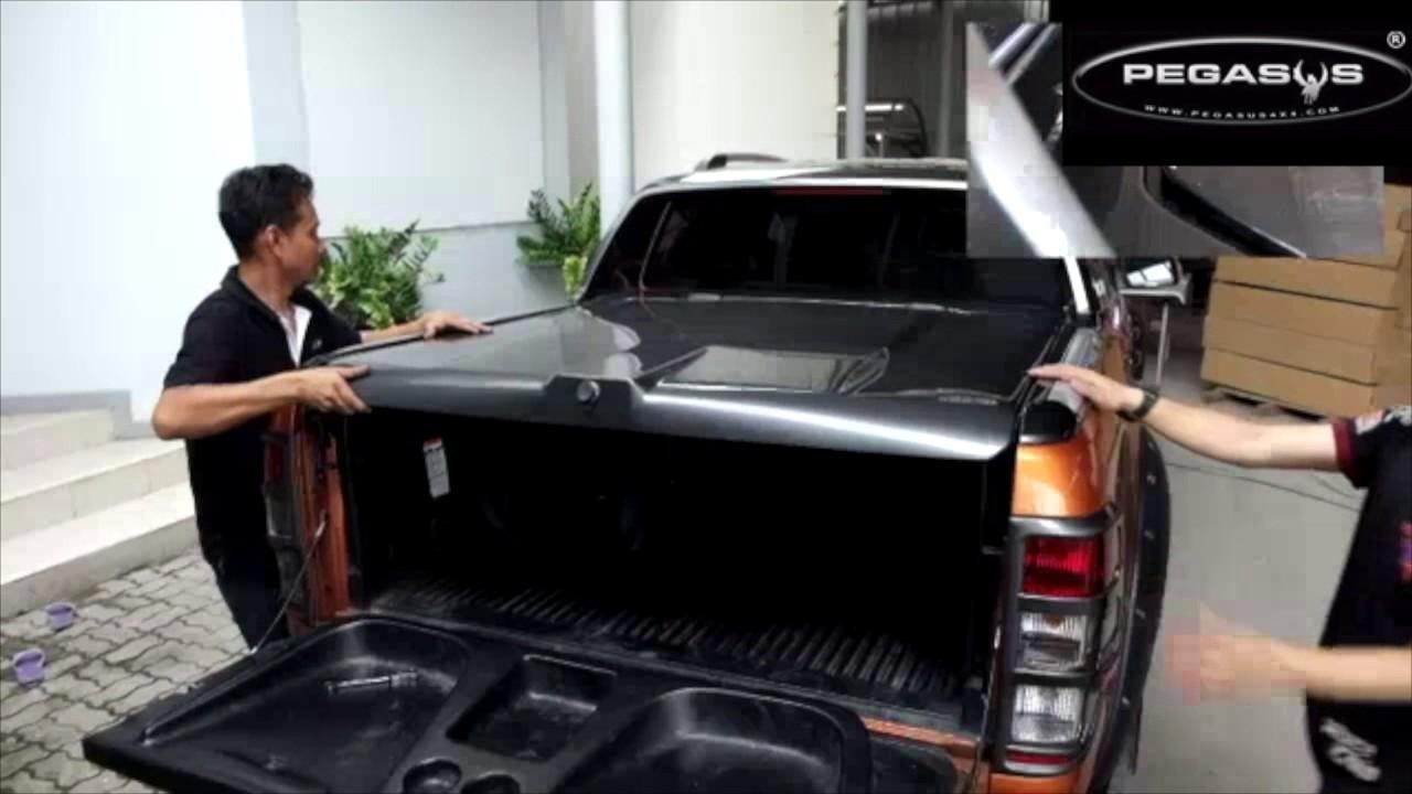 2017 Ford Ranger >> Ranger Wildtrak Sports Lid Installation - YouTube