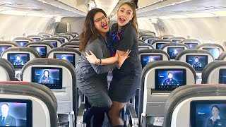 ARE WE SCARED? - Flight Attendant Life - VLOG 29, 2019