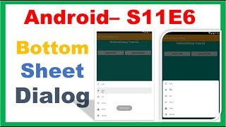 Android bottomsheet example