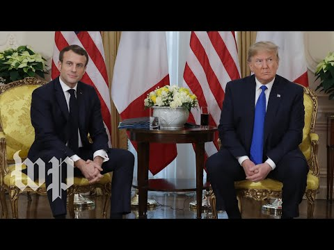 Watch: Trump meets with French president Macron after criticizing him for 'nasty' NATO comments