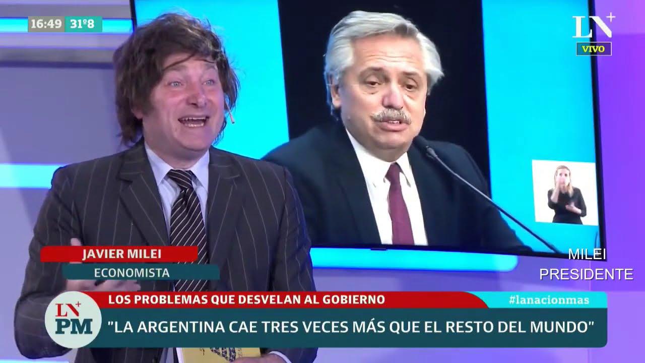 """""""Le robaron la elección a Trump en EEUU"""" Javier Milei en LN+- 08/01/21"""
