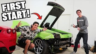 Our 2000hp Cheap Lamborghini Starts & Runs For The First Time!