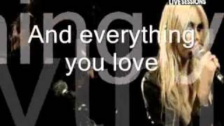 Make me wanna Die - The pretty Reckless [MTV live sessions with lyrics]