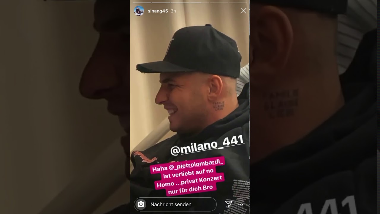 Pietro Lombardi Instagram Story