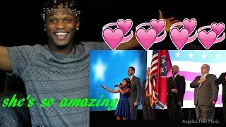 Angelica Hale Singing USA National Anthem - Aflac Focus 2017 ( reaction )