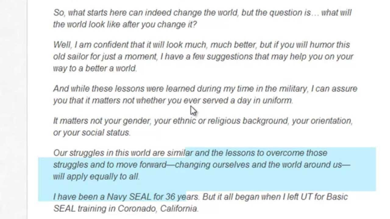 20 10 Life Lessons Of A Navy Seal