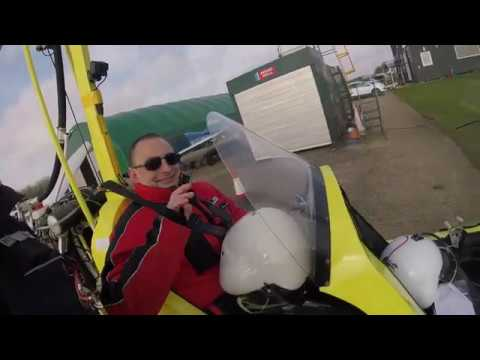 Kevin Goes flying in a gyrocopter/gyroplane