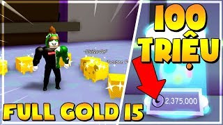 ROBLOX   FULL 8 PET GOLD TIER 15 AND 100 MILLION MOON COIN OPEN PET GOLD   Pet Simulator