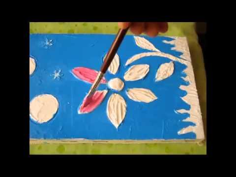 C mo hacer y pintar cuadros con relieve o texturas con - Cuadros con relieve modernos ...