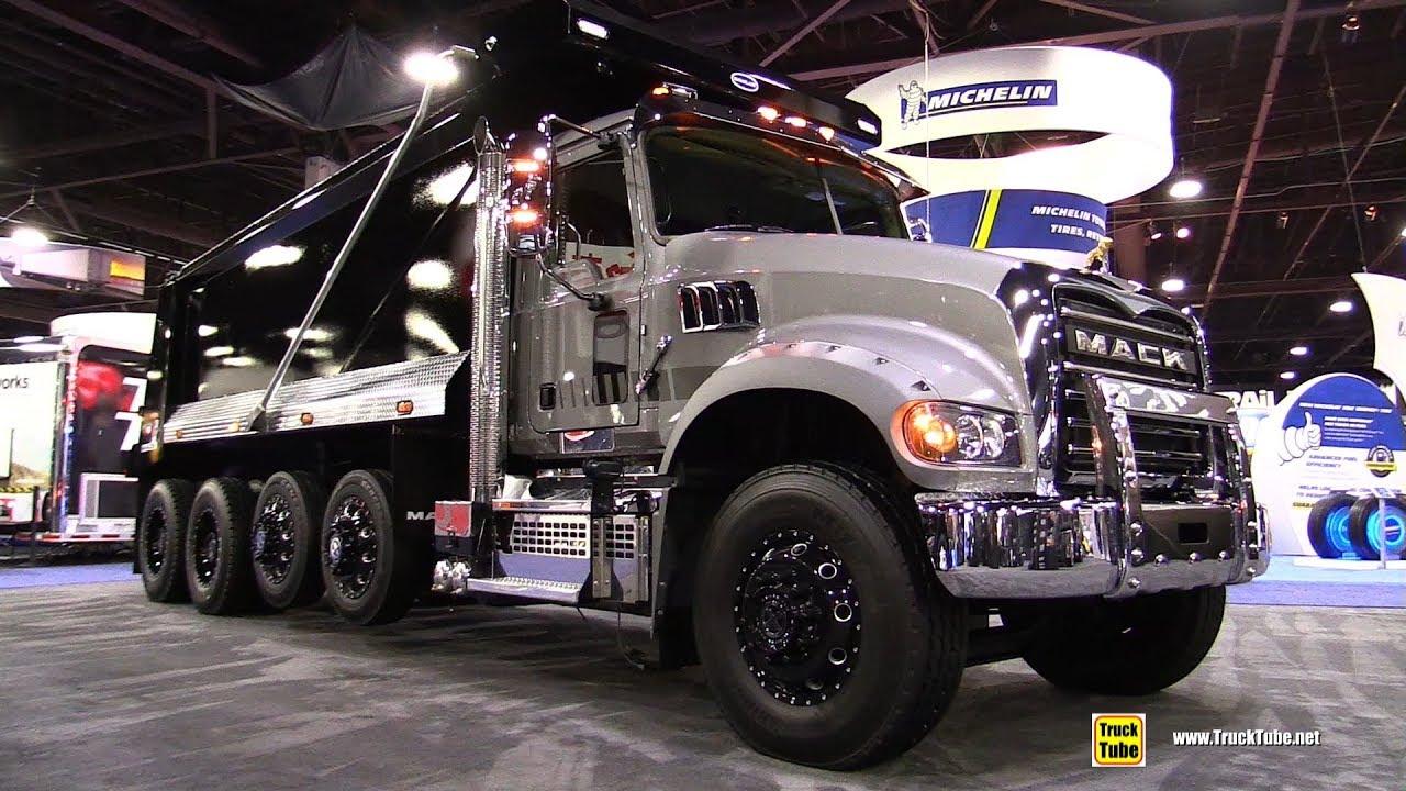 2018 mack granite 64b daycab dump truck walkaround 2017 nacv show atlanta [ 1280 x 720 Pixel ]