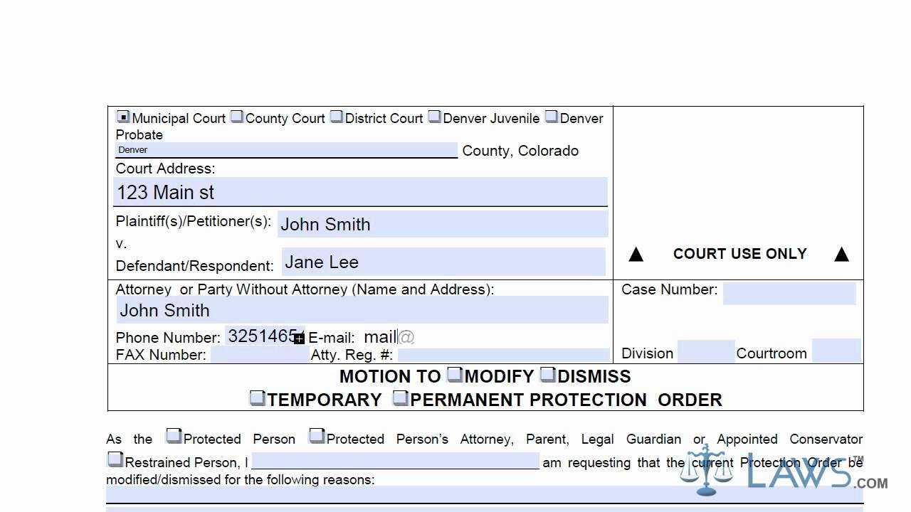 Learn How to Fill the Motion to Dismiss Form