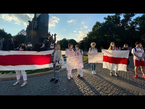 Телеканал Simon: В Харкові під час акції на підтримку білоруського народу стався конфлікт