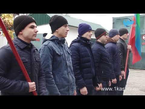 К службе готов! 7 призывников Каспийска отправились на службу в ряды Российской армии