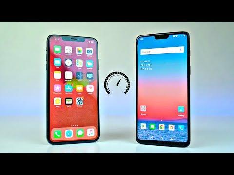 iPhone XS MAX vs OnePlus 6 - Speed Test!