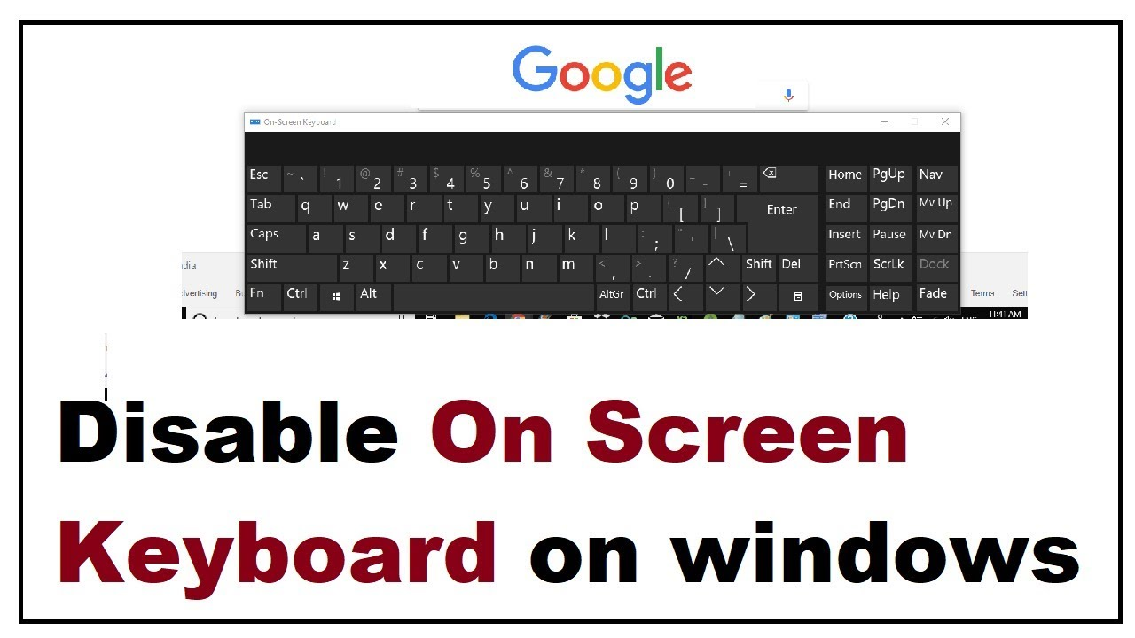 How to turn off on screen keyboard windows 10 | How To Quickly