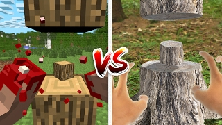 Minecraft vs Real Life: How to Cut Trees! (Minecraft Animation)