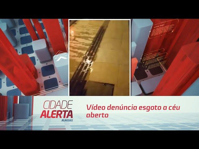 Vídeo denúncia esgoto a céu aberto na Ponta Verde
