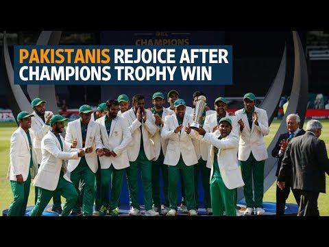 Pakistanis rejoice after team hammers India in 2017 ICC Champions Trophy