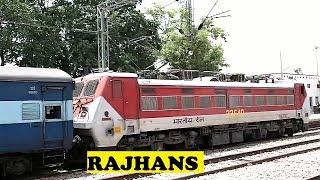 Rajhans WAP4 Garbha Loops Bayana For Overtake