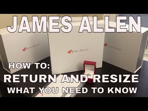 James Allen HOW TO RESIZE AND RETURN YOUR RING