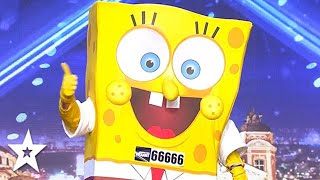 Pepper Pig & SpongeBob Square Pants Party on The Stage! | Got Talent Global