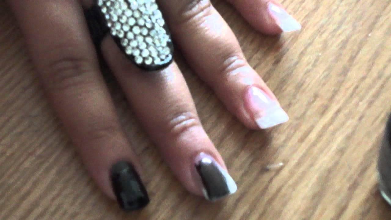 First nail tutorial inspired by Khloe Kardashian :) - YouTube