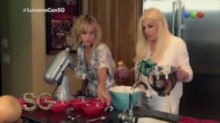 Luisana Lopilato le enseña a cocinar una torta a Susana - Susana Giménez 2017
