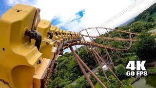 Riding Bandit Roller Coaster at Yomiuriland in Japan! Multi Angle 4K60 POV よみうりランド - バンデット