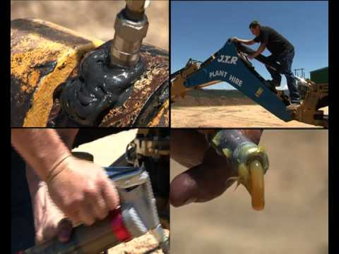 How To Grease Industrial Heavy Machinery And Equipment - Easy, Mess Free, Grease Gun Pump System
