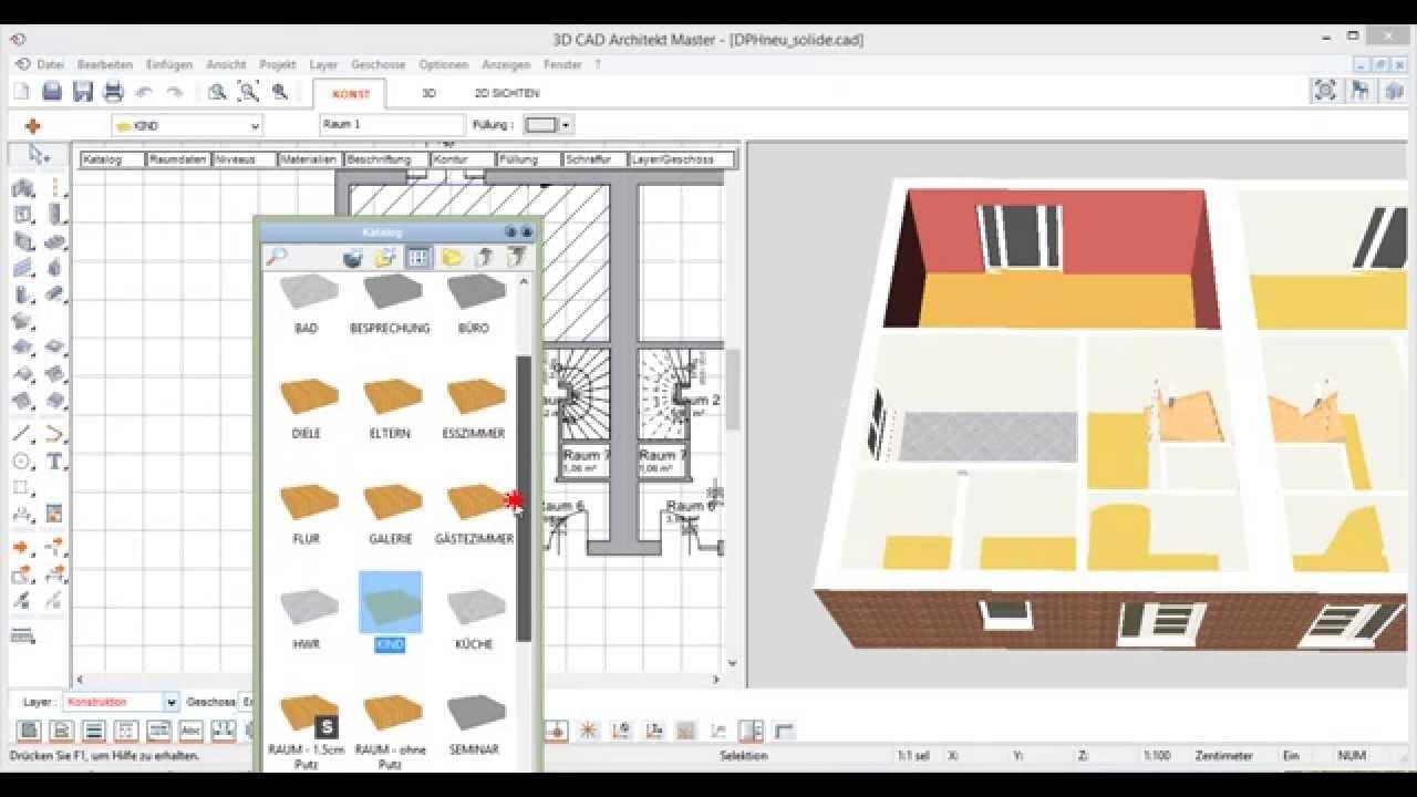 raumdaten zuweisen raumbeschriftung erstellen mit den 3d cad architekten von. Black Bedroom Furniture Sets. Home Design Ideas