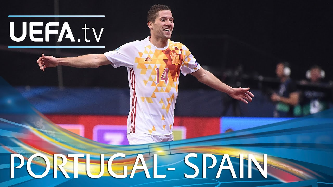 Futsal EURO Highlights  Spain beat Portugal 6-2 - YouTube 250a3735d3402